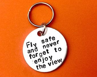 Custom Gift for him on Valentines - boyfriend Pilot Keychain - flying -  aviation 229d4a697