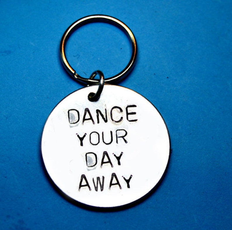 Dance Gift Ideas Cool UK Hand Stamped Keyring