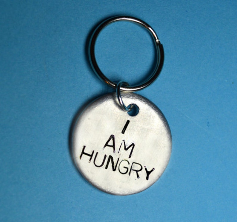 Hungry Fun Gift Funny Keyring Quote Uk Ideas