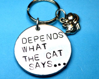 Cat lovers gifts, Cat keychain, Kittens, Cat person, Cat lover gift, Cat lady,  Pet lover gift, gift for cat lover, Cat quote, cat loving