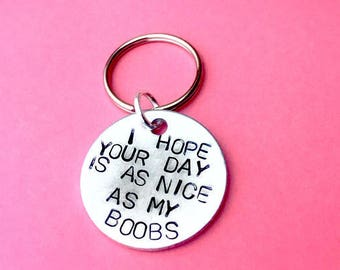 Boyfriend gift, Boobs, I hope your day, Husband gift idea, Boyfriend keychain, Gifts for him, Gifts for men, Anniversary gifts for men