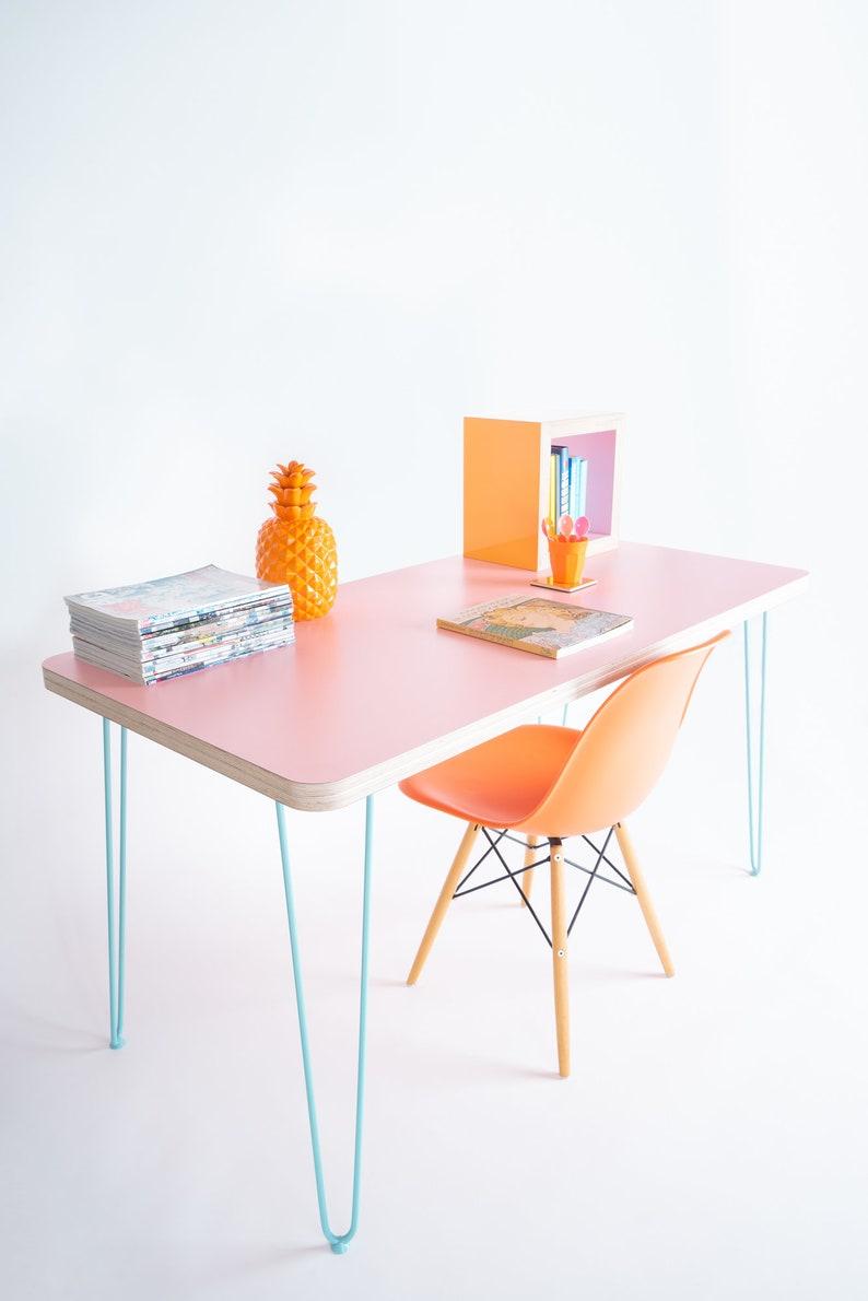 Prix Feuille Stratifié Formica superbe contreplaqué sur mesure hp laminate handmade desk/table. couleurs  et tailles personnalisées disponibles.