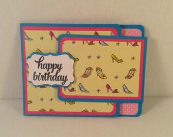 HAPPY BIRTHDAY Shoe Lover's Gift Card Holder