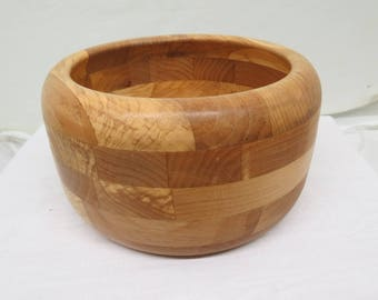 Laminated wood bowl