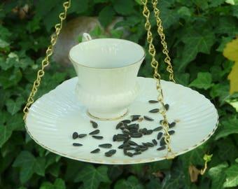 Tea Cup Bird Feeder, Scalloped