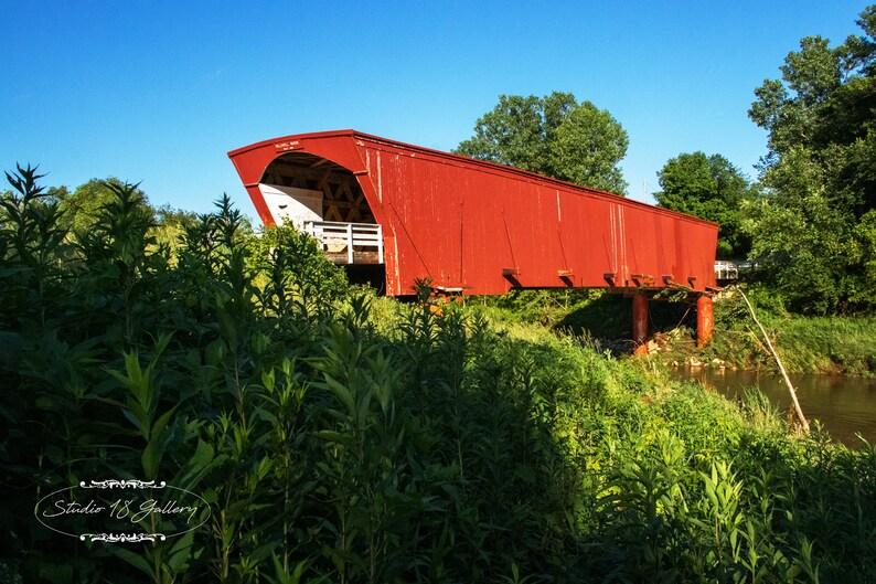 Photography  Holliwell Covered Bridge of Madison County Iowa image 0