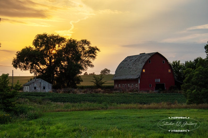 Iowa Photography by Eleanor Caputo  Iowa Barn at Sunset  image 0