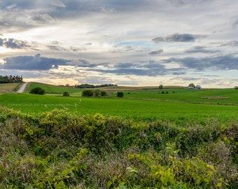 Vista View Ridge Road - Rural Tama County Iowa - Photography by Eleanor Caputo - Prints - Metals - Canvas Wrap - Greeting Card