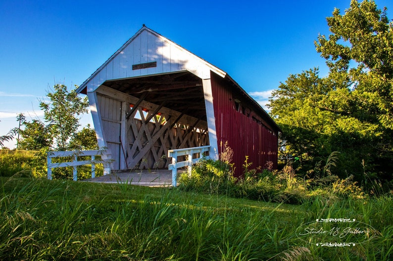 Photography  Imes Covered Bridge of Madison County Iowa image 0