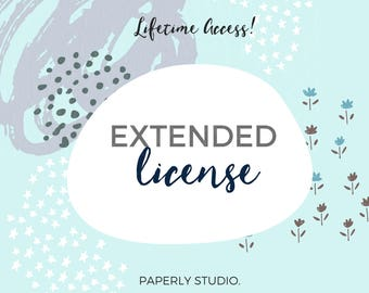 Extended License for Paperly Studio, Commercial Use Clipart, Commercial Use Graphics
