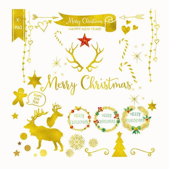 Basteln Mit Goldfolie Weihnachten.Digitaler Download Goldfolie Weihnachten Clip Art Handgemachte Urlaub Clipart Kommerziellen Nutzen Png Goldfolie Weihnachten Overlay Urlaub
