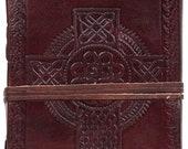 Leather grimoire Celtic c...
