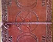 Leather grimoire Triple m...