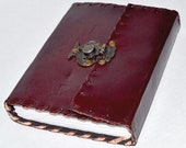 Leather grimoire journal ...