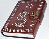 Celtic Wolf leather Book ...