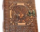 Leather grimoire Celtic T...