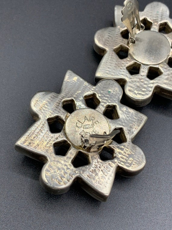 Earrings claire deve 80 90 vintage french clip je… - image 2