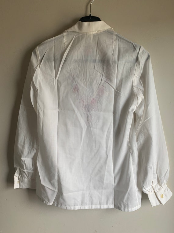 Hungarian hand embroidered vintage 70 hippie shirt - image 8
