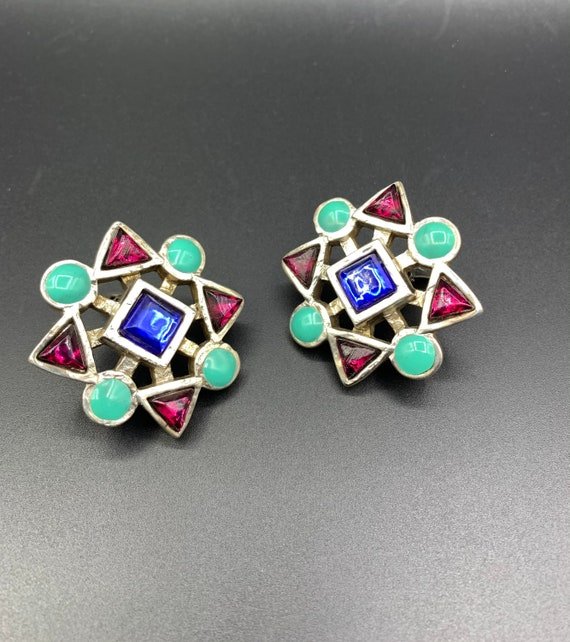 Earrings claire deve 80 90 vintage french clip je… - image 5