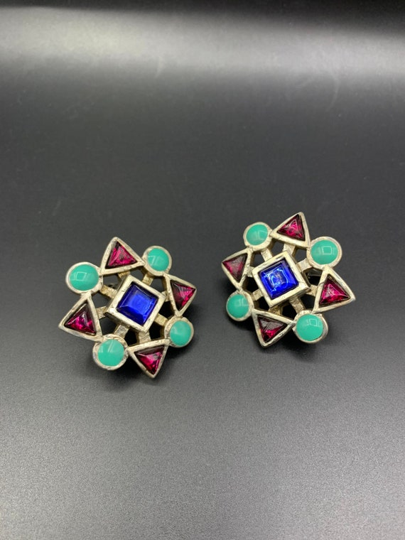Earrings claire deve 80 90 vintage french clip je… - image 4