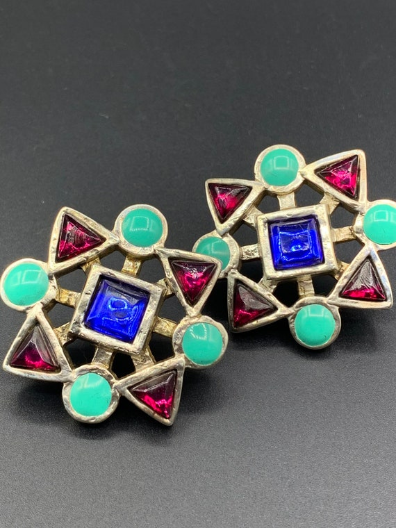 Earrings claire deve 80 90 vintage french clip je… - image 1