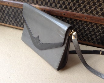 Bailly grey vintage leather bag
