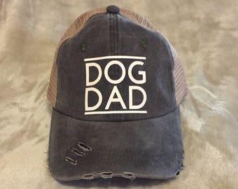 Dog Dad Black Trucker Hat, Dad cap