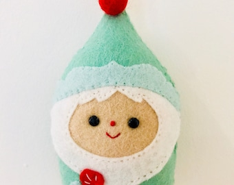Handmade Santa's Elf Felt Christmas Tree Decoration/Ornament