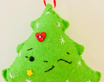 Handmade Winking Christmas Tree Felt Christmas Tree Decoration/Ornament