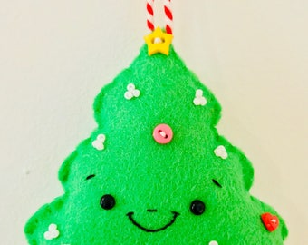 Handmade Smiling Christmas Tree Felt Christmas Tree Decoration/Ornament