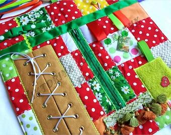Fidget Blanket for Dementia Fidget Quilt Memory Blanket Activity Tactile Quilt Awareness Alzheimer Aid Elderly Comfort Therapy Skills bord