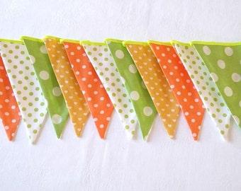 Bunting flags Fabric garland Baby bunting Nursery decor Baby shower Wedding bunting