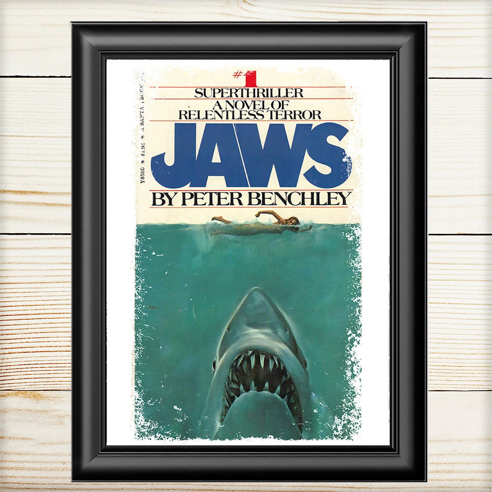 Jaws Book Cover Art ~ Jaws officially licensed poster on behance