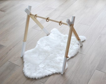 Modern Wooden Baby Gym / Activity Center / Stylish and Natural Nursery Decor / Baby Activity Gym / Wooden Frame