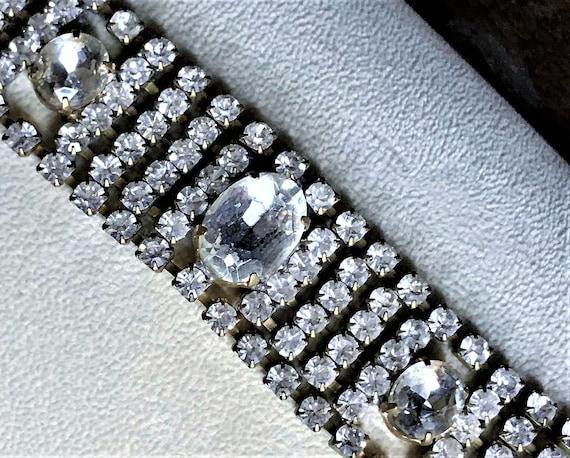 Vintage Bracelet, Vintage Crystal Bracelet, Weddin