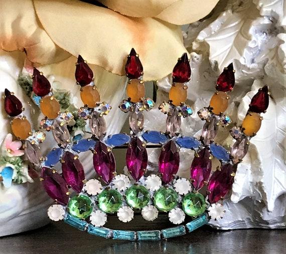 Vintage Crown Pin, Vintage Crown Brooch, Mardi Gra