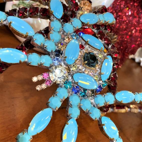 Huge Vintage Spider Brooch, Statement Spider Pin,