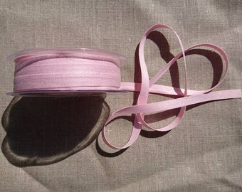 "Pack of 5m of ""Peach Skin"" ribbon 9mm / 74 Light pink"