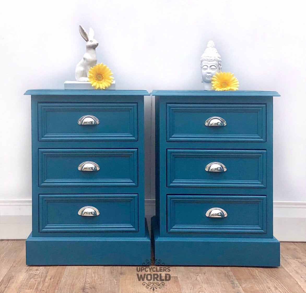Teal Silver Bedside Tables Cabinets Chest Of Drawers Bedroom Storage