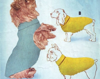 Dog Coats / Sweaters/ Jumpers Knitting Pattern. PDF Pattern. Instant Download