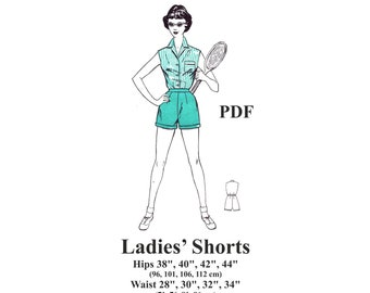 1950s Ladies Shorts/ Sport Shorts Sewing Pattern. PDF Instant Download