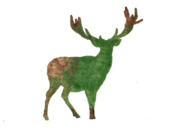 Stocking Stuffer, Woodland Deer Stamp, Reindeer Silhouette Stamp, Buck Stamp, Elk Acrylic Stamp, Mule Deer, White Tail, Animal Stamping