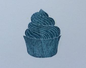 Stocking Stuffer, Swirly Cupcake Stamp, Birthday Stamp, Just Because Stamp, bullet journal stamp, planner stamp