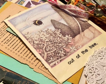 Junk Journal Paper Pack for card making, mixed media, collage, bible journal , diy gift for her