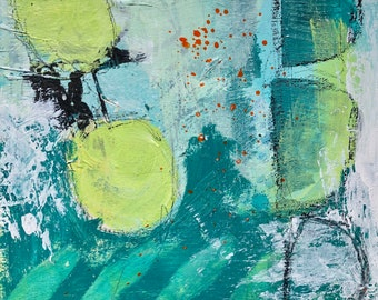 Gallery wall trio, abstract art, mixed media, abstract painting, art, painting