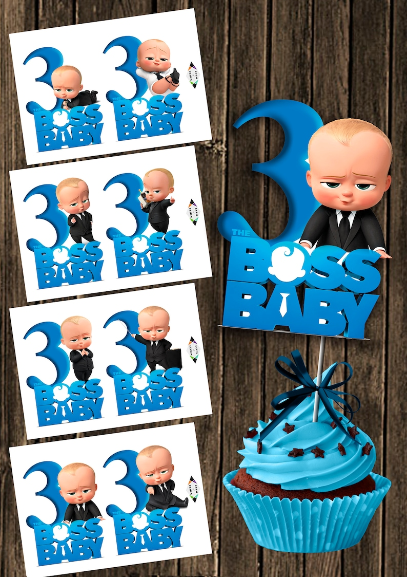 picture about Boss Baby Printable known as Manager Child printable - Large Amount 3 - Manager Boy or girl Centerpiece - bossbaby range 3 toppers - the little one manager - Kid manager birthday Do-it-yourself