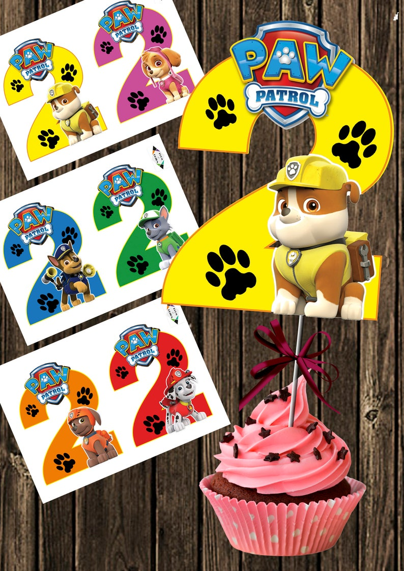 picture regarding Paw Patrol Printable named Paw Patrol printable - Large Amount 2 - Paw Patrol Centerpiece - Paw Patrol Amount 2 Centerpieces - Paw Patrol Occasion - Paw Patrol Birthday Do it yourself