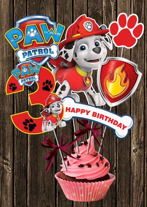 photo regarding Paw Patrol Printable Decorations titled PAW PATROL CENTERPIECE Variety 3 Marshall Paw Patrol Printable Centerpiece. Paw Patrol Get together Decorations Picture Booth Props Amount 3