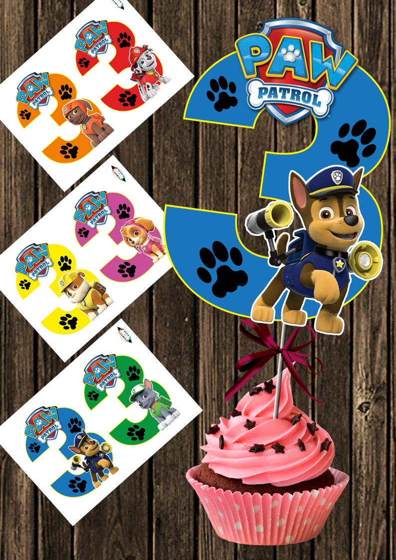 image regarding Paw Patrol Printable named Paw Patrol printable - Significant Selection 3 - Paw Patrol Centerpiece - Paw Patrol Quantity 3 Centerpieces - Paw Patrol Bash - Paw Patrol Birthday Do-it-yourself