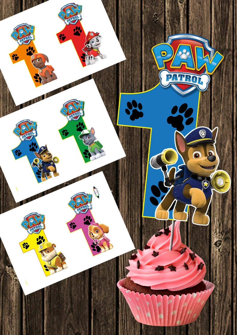 photo about Paw Patrol Printable Decorations referred to as Paw Patrol printable - Large Quantity 1- Paw Patrol Centerpiece - Paw Patrol Variety 1 Centerpieces - Paw Patrol Occasion - Paw Patrol Birthday Do-it-yourself